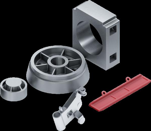 Odlewy elementów konstrukcji i napędów